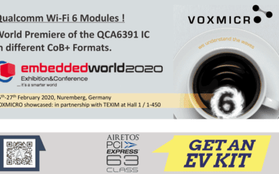 VOXMICRO holds its participation to Embedded World 2020