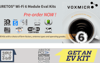 AIRETOS® Wi-Fi 6 Module Evaluation Kits, featuring the Qualcomm® QCA6391 WLAN-BT5 combo
